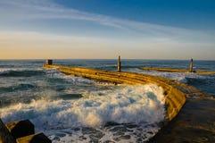 tel порта пристани aviv старый Стоковое Изображение