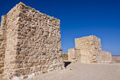 Tel Arad. Old Arad is located west of the Dead Sea, about 10 km west of modern Arad in an area surrounded by mountain ridges which is known as the Arad Plain Stock Image