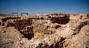 Tel arad national park. Archeological excavation and ruins Israel history site Royalty Free Stock Photo