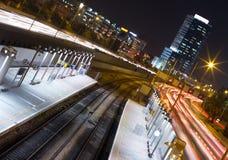 Tel Aviv на ноче Стоковые Фото