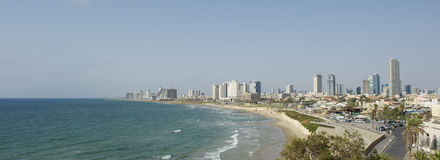 Tel Aviv. Landscape of Tel Aviv from Jaffa, Palestine Royalty Free Stock Images