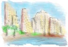 Tel Aviv vector illustratie