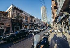 Улица в Tel Aviv Стоковые Изображения