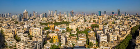 Tel Aviv aerial panorama Royalty Free Stock Photography