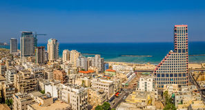 Tel Aviv aerial view Stock Images