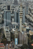 Tel Aviv - 10.06.2017: Aerial view on Tel Aviv roads and property stock photos