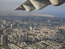Tel Aviv from the air. Downtown Tel Aviv seen from the air Stock Image