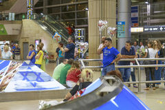 Tel Aviv - airoport - 21 de julio - Israel, 2014 Fotos de archivo