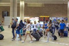 Tel Aviv - airoport - 21 de julio - Israel, 2014 Imagen de archivo libre de regalías