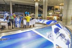 Tel Aviv - airoport - 21 Juli - Israel, 2014 Arkivbild