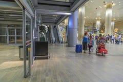 Tel Aviv - airoport - 21 Juli - Israel, 2014 Royaltyfri Foto