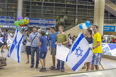 Tel-Aviv -airoport - 21 July - Israel, 2014 Royalty Free Stock Images