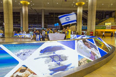 Tel-Aviv -airoport - 21 July - Israel, 2014 Royalty Free Stock Photos
