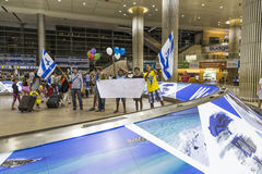 Tel Aviv - airoport - 21 Lipiec, Izrael -, 2014 Fotografia Royalty Free