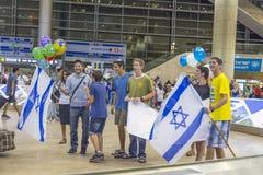 Tel Aviv - airoport - 21 Lipiec, Izrael -, 2014 Obrazy Royalty Free