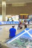 Tel Aviv - airoport - 21 Lipiec, Izrael -, 2014 Obrazy Stock