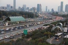 Tel Aviv al crepuscolo Immagini Stock Libere da Diritti