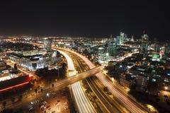 Tel Aviv At Night Royalty Free Stock Image