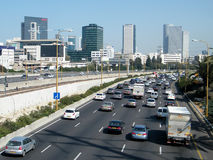 Tel Aviv Ayalon autostrada 2010 Zdjęcia Stock