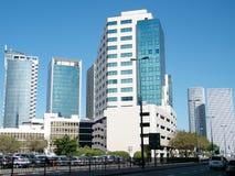 Tel Aviv błękitni drapacze chmur 2011 Zdjęcia Stock
