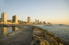 Tel Aviv beach. And Marina Royalty Free Stock Photos