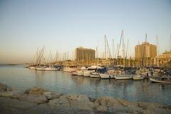 Tel Aviv beach. And Marina Stock Images