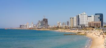 Tel Aviv beach Royalty Free Stock Photos