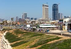 Tel Aviv beach Stock Images