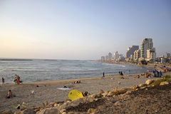 Tel aviv beach coastline Stock Photography