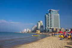 Tel Aviv beach in Israel Royalty Free Stock Image