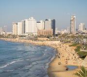Tel Aviv beach. On Mediterranean Sea in Israel Royalty Free Stock Images