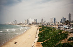 Tel Aviv beach panorama Stock Photography
