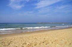 Tel Aviv beach. Sandy beach at Tel Aviv Israel Stock Photos
