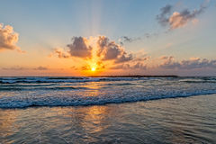 Tel Aviv beach sunset Stock Photos