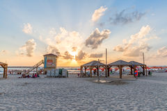 Tel Aviv beach sunset Stock Photography