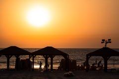 Tel Aviv Beach Sunset, Israel Stock Photography