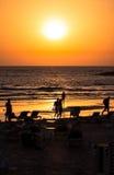 Tel Aviv Beach Sunset, Israel Stock Images
