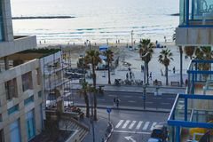 Tel Aviv Beach. View of Tel Aviv Beach in Israel Royalty Free Stock Photo