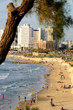 Tel Aviv beach. Royalty Free Stock Photography