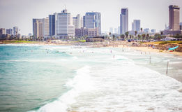 Tel Aviv beaches Royalty Free Stock Images