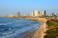 Tel Aviv Beachfront Royalty Free Stock Photos