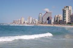 Tel-Aviv beech stock photos