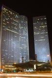 Tel Aviv bij nacht Royalty-vrije Stock Foto