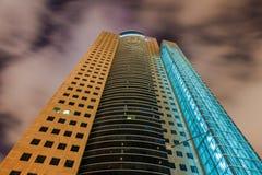 Tel Aviv bij nacht Stock Afbeeldingen