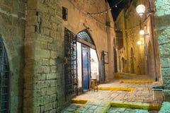 Tel Aviv bij nacht royalty-vrije stock fotografie
