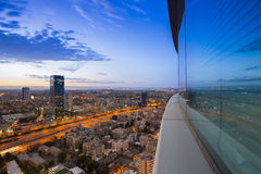 Tel Aviv bij Zonsondergang Stock Fotografie