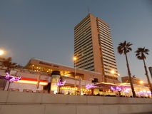 Tel Aviv bij Zonsondergang Stock Foto's