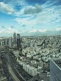 Tel Aviv from a bird-eye view Stock Images