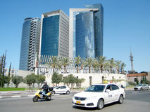 Tel Aviv the blue skyscrapers 2011 Royalty Free Stock Photos