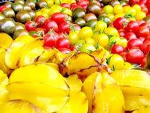 Tel Aviv carpet of Star Fruit and tomato 2013 Stock Photos